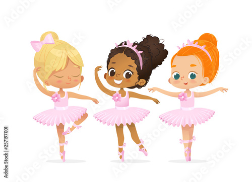 Ballerina Girl Friend Character Training Set Canvas-taulu