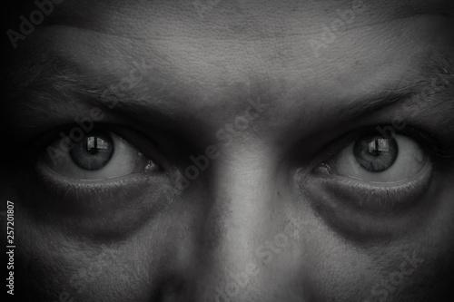 Fototapety, obrazy: Man eye closeup.