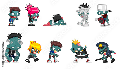 Photo  Zombie Character Illustration