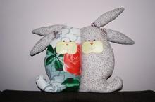 Pillow Hares Lovebirds A Gift ...