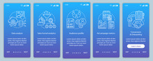 SMM Metrics Courses Onboarding Mobile App Page Screen Vector Tem