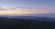 Aerial Drone Of pine forest and Silicon Valley in Santa Cruz Mountains
