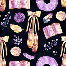 Ballet Seamless Pattern With B...