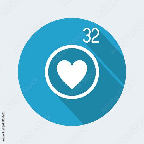 Fotografía  Love counter notification icon