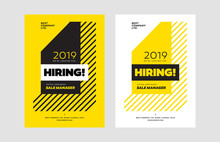 Hiring Announcement Vector Design Template. Hire Announce Poster Creative Design Concept.