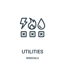 Utilities Icon Vector From Rem...