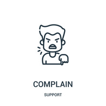 Complain Icon Vector From Supp...