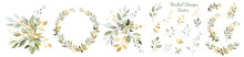 Set. Arrangement Of Decorative...