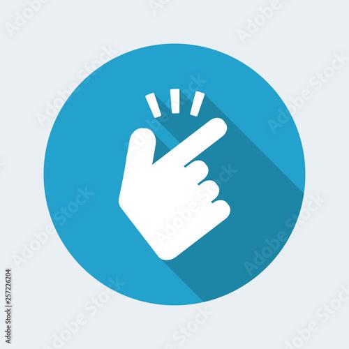 Fotografiet  Snap gesturing icon