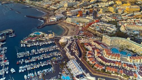 Fototapeta view on Puerto Colon Beach and a port obraz na płótnie