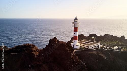 Photo lighthouse on Punta de teno air photo Tenerife