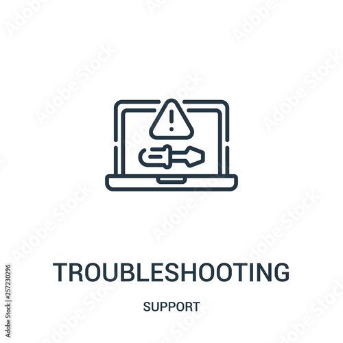 Cuadros en Lienzo troubleshooting icon vector from support collection