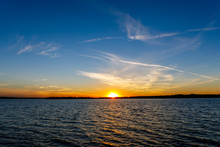Sunset At A Lake In Oklahoma.