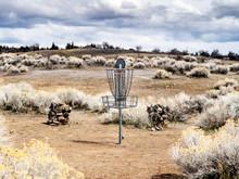 Disc Golf Target In A Desert P...