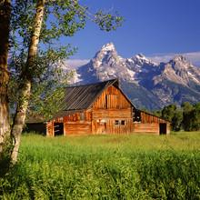 Tetons & Historic Moulton Barn;  Grand Teton NP;  Wyoming