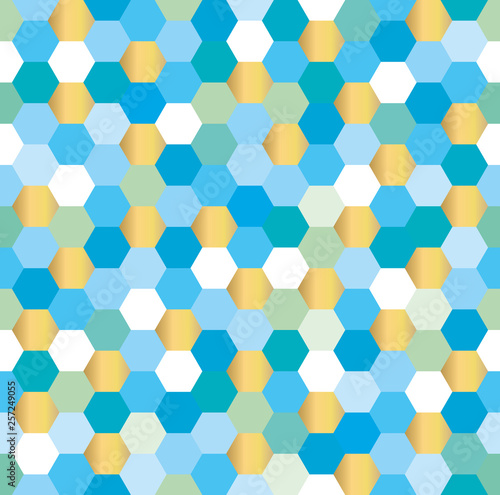 seamless-background-of-hexagons-in-gold-and-shades-of-blue