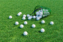 Golf Balls Scattered Of Field ...