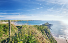 Coast Path In Pembrokeshire At Summer