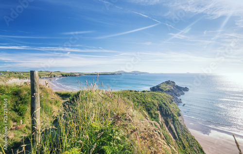 Canvas Print Coast Path in Pembrokeshire at Summer