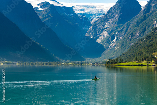 man, canoe, inspirational, Norway, Moutains, sport, water sport