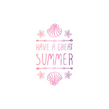 Hand Drawn Summer Slogan Isola...
