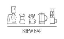 Brew Bar. Set Of Vector Black ...