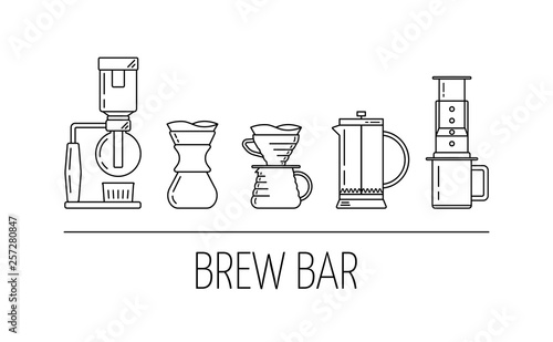 Fotomural Brew bar