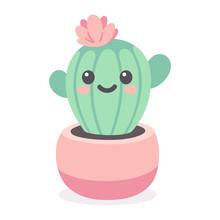 Cute Cartoon Cactus Character