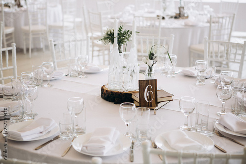 Obraz Wedding table decoration - fototapety do salonu