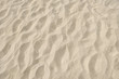 Texture of clean sand on the beach close up