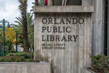 ORLANDO, FLORIDA, USA - DECEMBER, 2018: Orlando Public Library