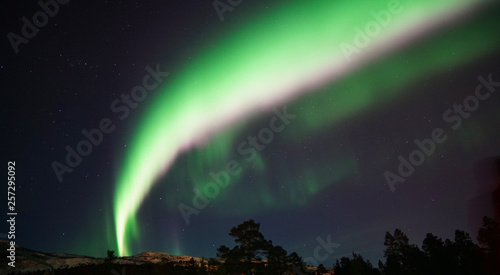Nordlicht in Alta, Norwegen Fototapet