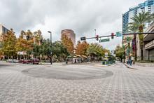 ORLANDO, FLORIDA, USA - DECEMBER, 2018: Central Boulevard.