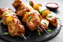 Grilled Meat Skewers, Shish Ke...