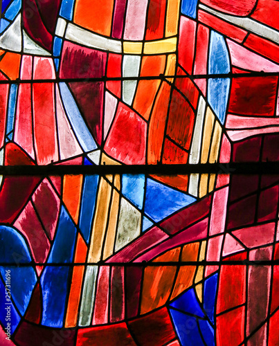 Photo  Stained Glass in Paris, St Severin Church