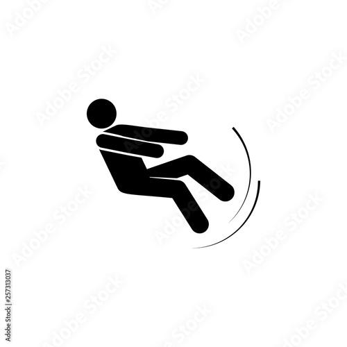 Fotografia, Obraz  Man, fall, imbalance, person icon