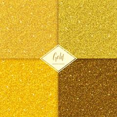 Zestaw tekstury złota brokat