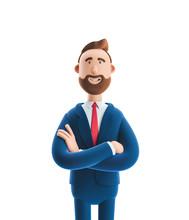 3d Illustration. Portrait Of A Handsome Businessman