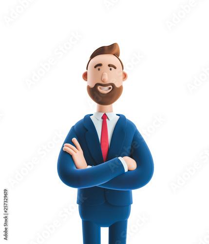 Photo  3d illustration. Portrait of a handsome businessman