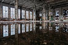 Inside Of Flooded Dirty Abando...