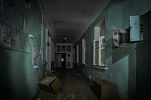 Dark Creepy Corridor Of Abando...