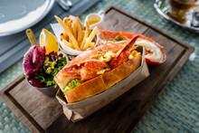 Delicious Lobster Roll Sandwic...