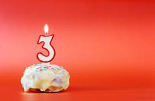 Three Years Birthday. Cupcake ...