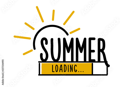 Fényképezés  Doodle Summer Loading illustration screen