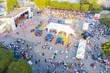 Leinwandbild Motiv concert in city park. summer time