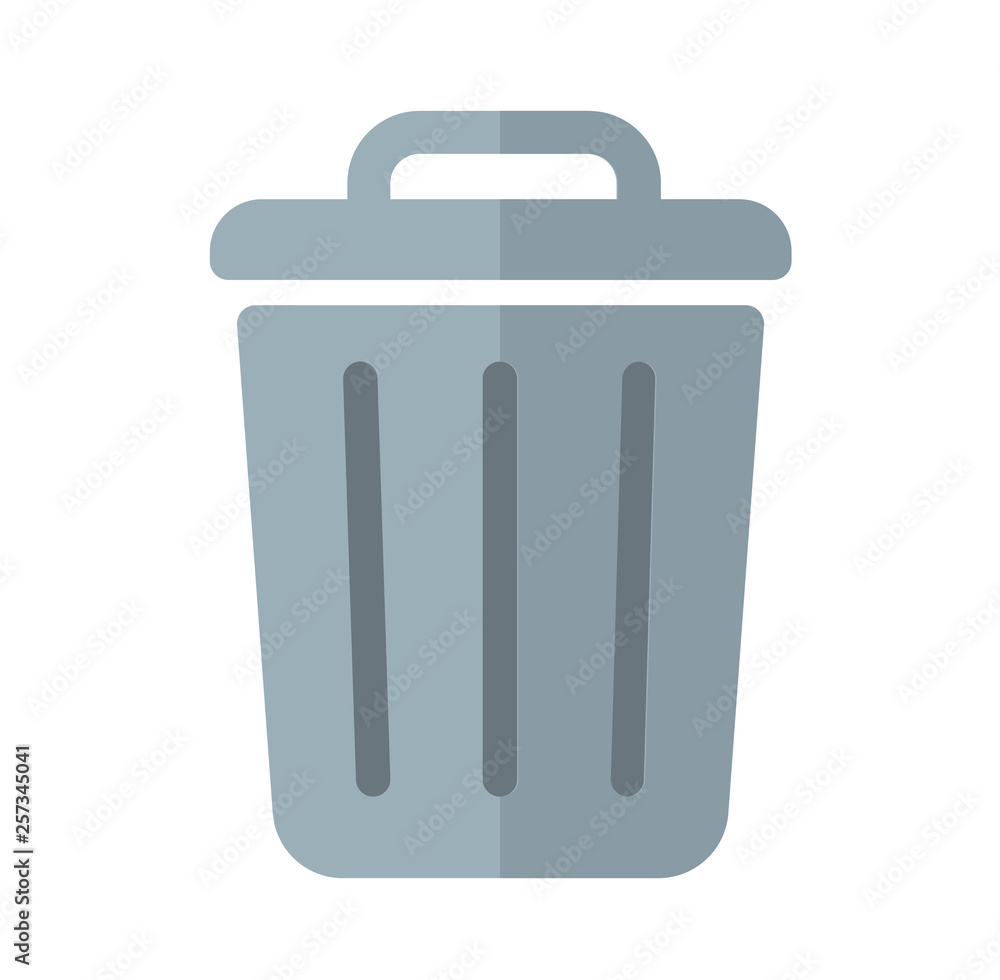 Fototapeta trash can,garbage can,rubbish bin icon