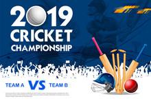 Batsman Playing Cricket Champi...