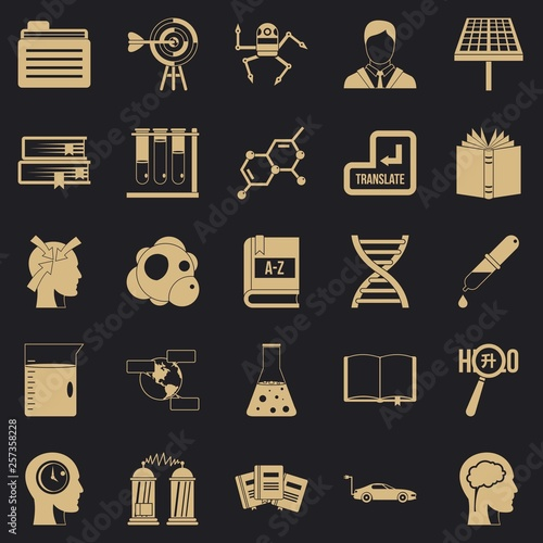 Fotografering  Grants icons set