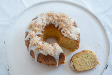 Carrot Apple Sponge Cake With Coconut Frosting