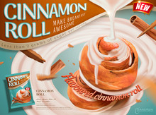 Cinnamon Roll Dessert Ads